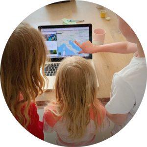Thema landen met kinderen Kroatië kijken waar het ligt