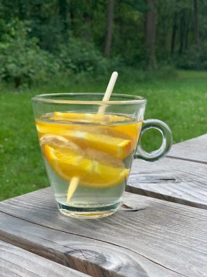 gember sinaasappelthee