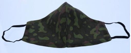 mondkapjes voor kinderen camouflage legerprint