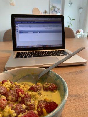 ontbijt voor de laptop