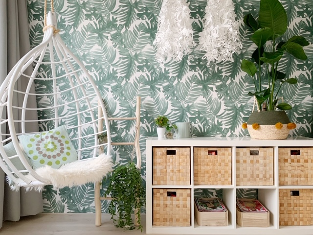 nieuwe urban jungle kamer lenthe behangmuur