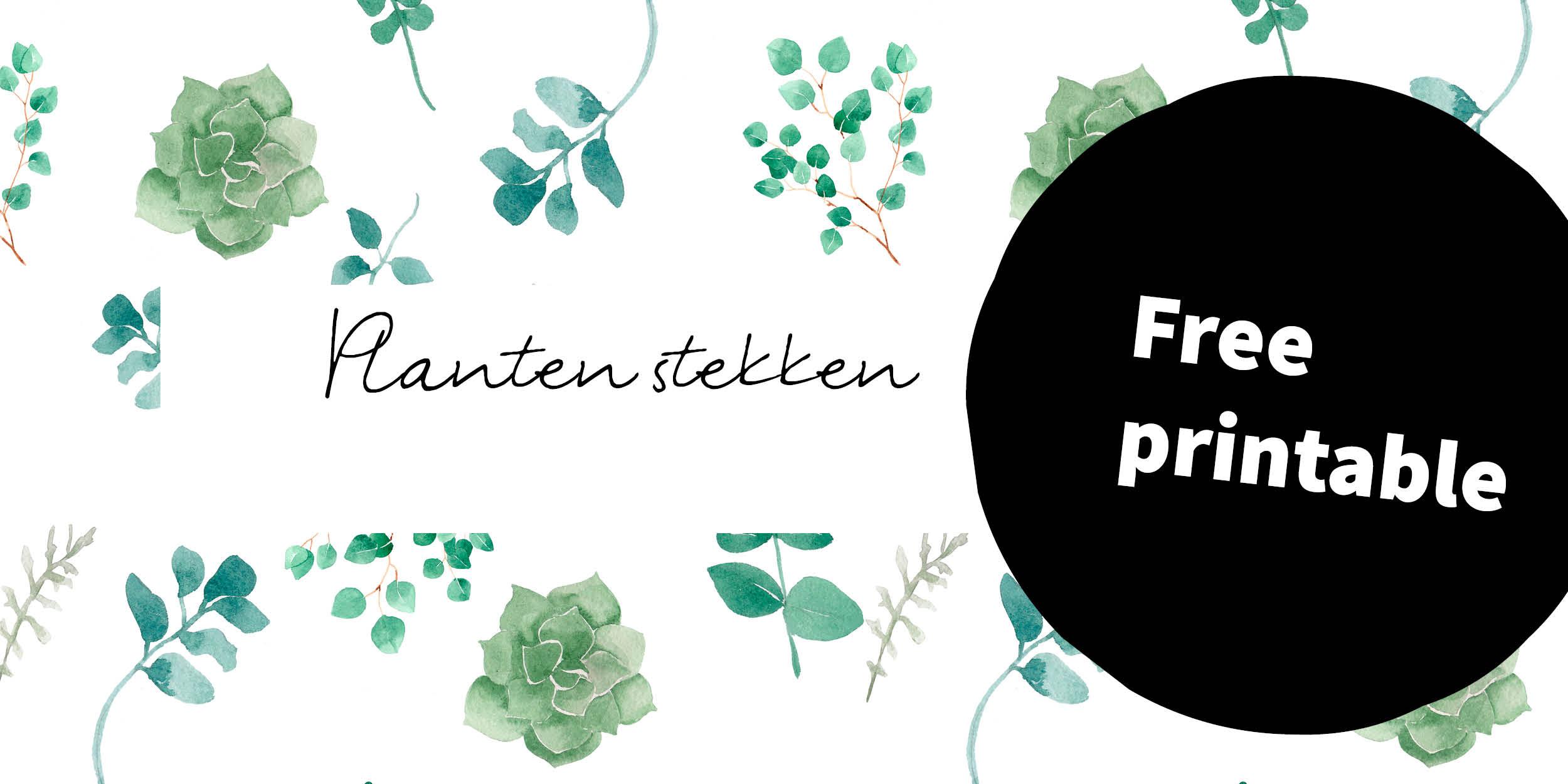 banner free printable plantjes stekken