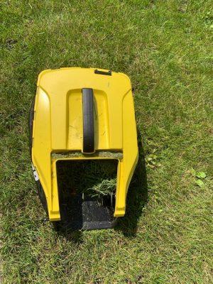 bovenkant grasmaaier karcher opvangbak