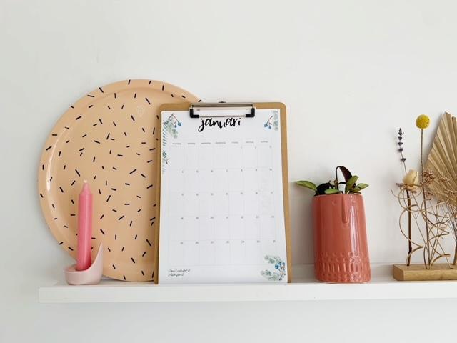 kalender op klembord