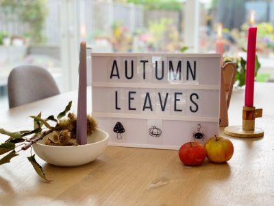 leuke herfst quotes voor je lightbox of letterbord