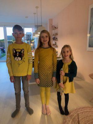 iedereen in geel