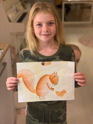 lenthe mooie tekening eekhoorn