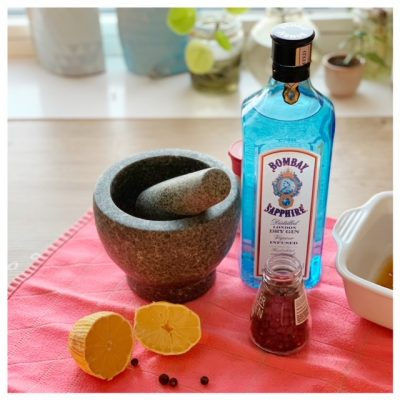 Gin bombay sapphire zalm