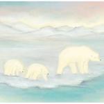 Kaart moeder ijsbeer met jongen van Baukje Exler