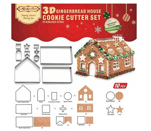 gingerbread house uitsteekvormpjes