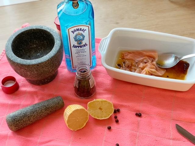 recept Gemarineerde zalm met gin