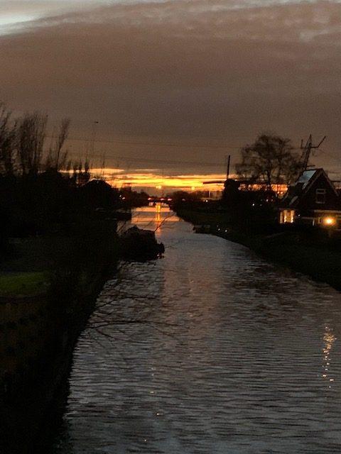 wandeling zonsondergang dec 2020