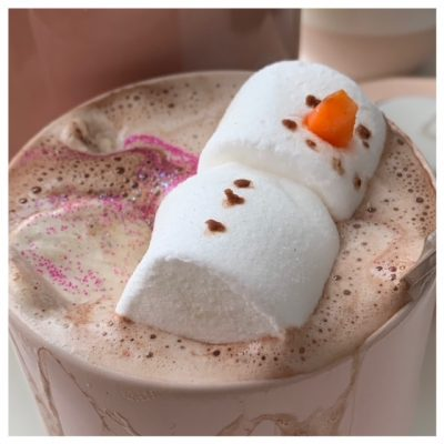sneeuwman chocolademelk marshmallow