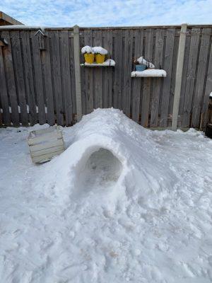 sneeuwtunnel iglo