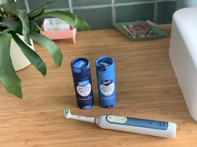 tandpasta in tabletvorm stark