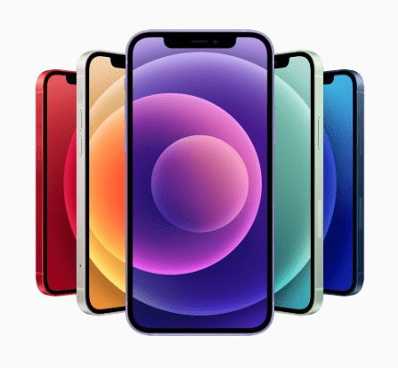 De nieuwe iPhone 12 is paars