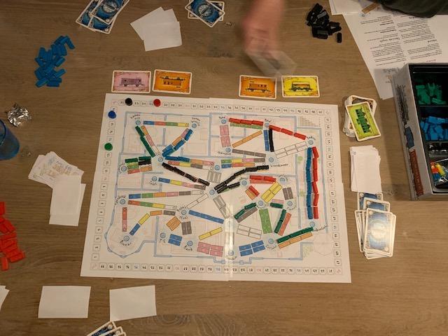 Review Ticket to Ride bordspel en Print and play bovenkant
