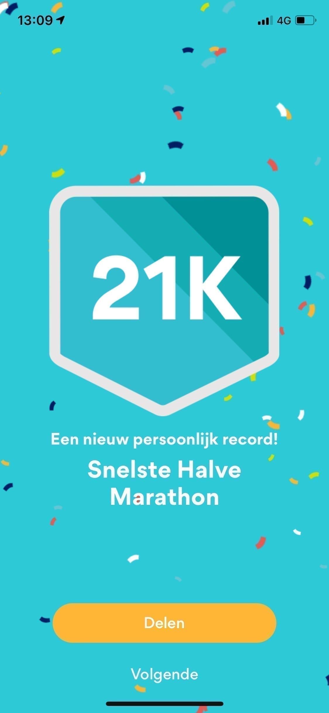 halve marathon 21 km hardlopen