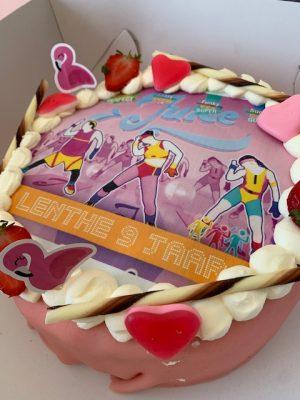 just dance taart feestje lenthe