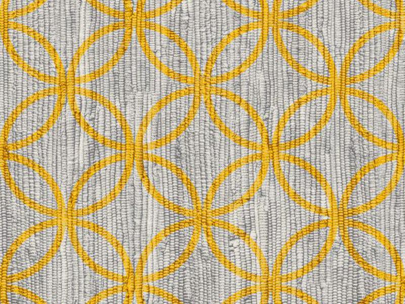 Een vloerkleed onder je eettafel geel