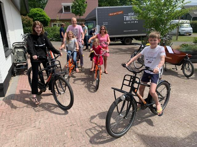 fietsen in Twente met het gezin