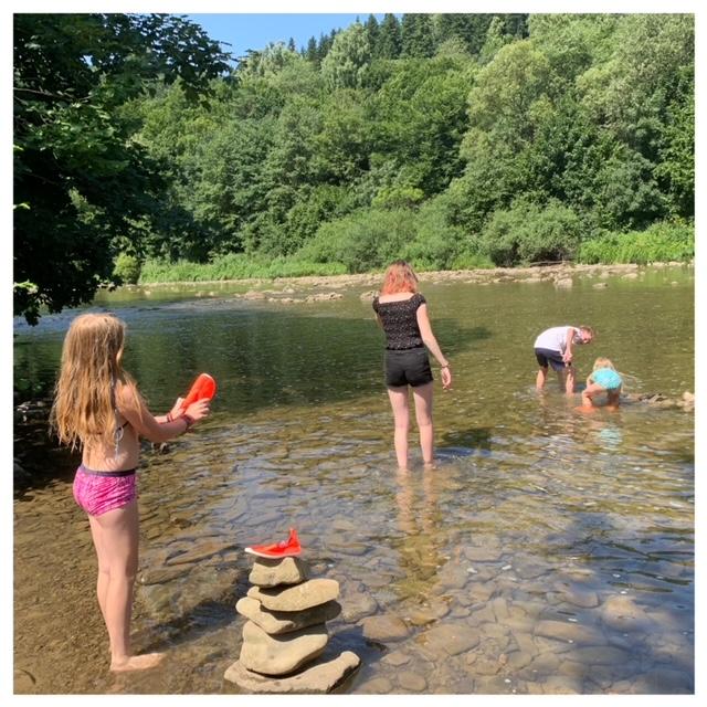 Bieszczady spelen in water