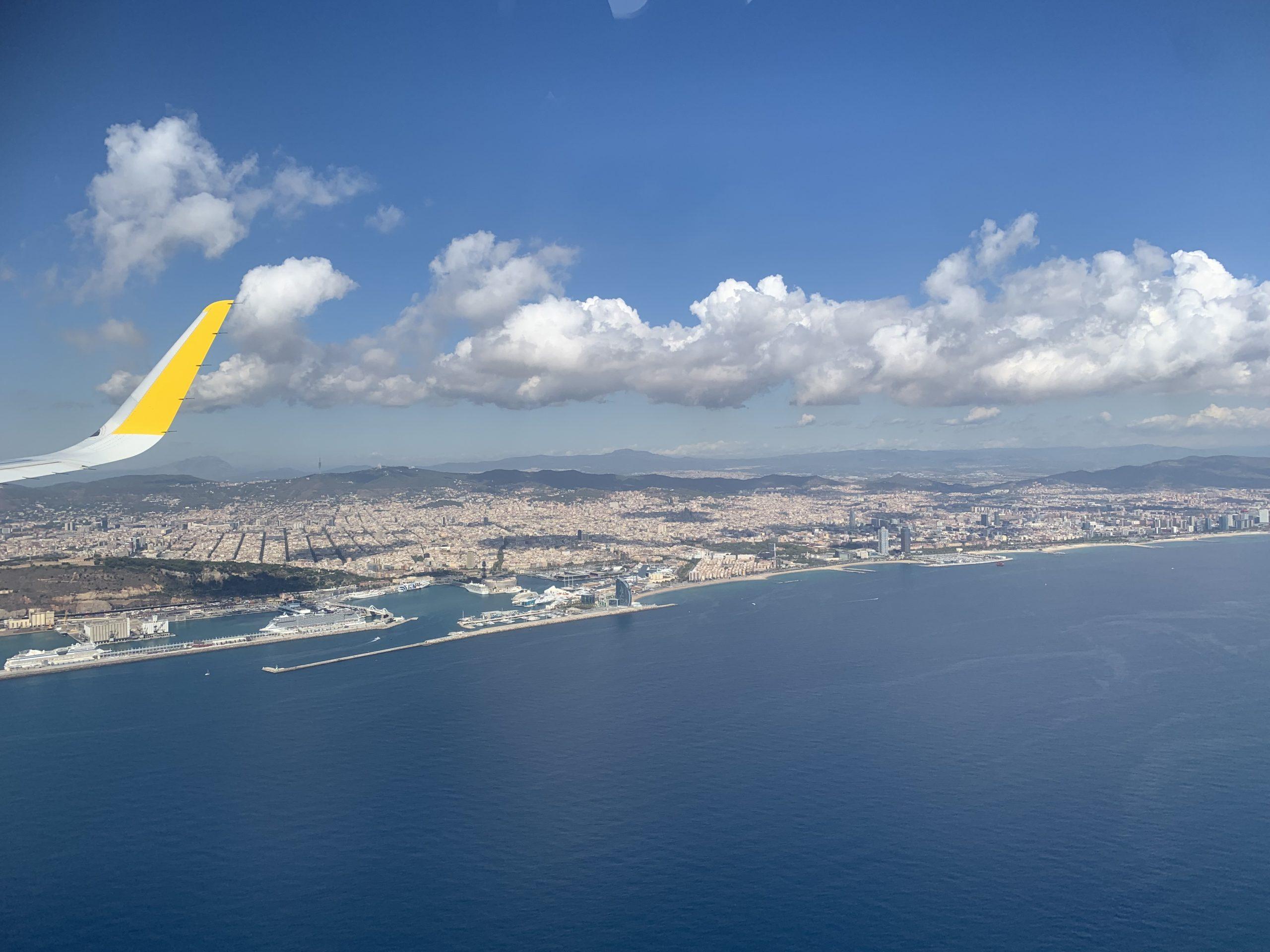 aanvliegen Barcelona