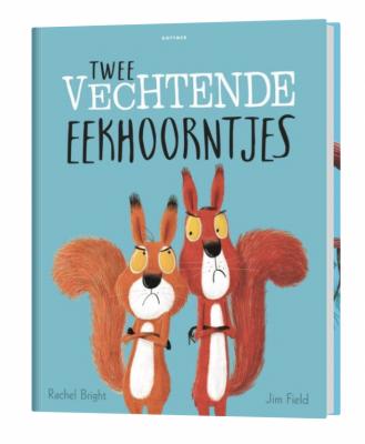 Leuke kinderboeken met herfst thema twee vechtende eekhoorns